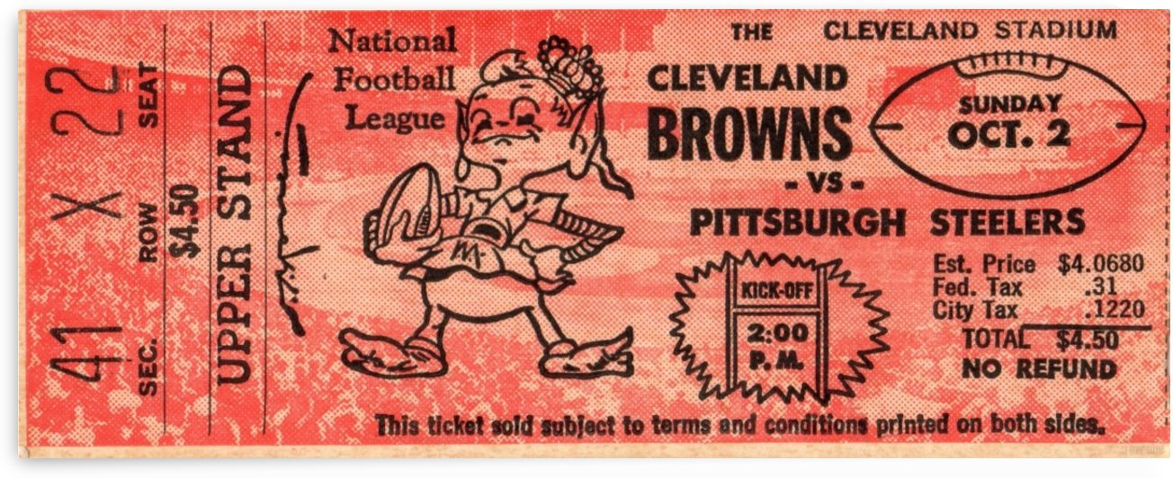 1960_National Football League_Cleveland Browns vs. Pittsburgh Steelers_Cleveland Stadium_Row One Tix by Row One Brand