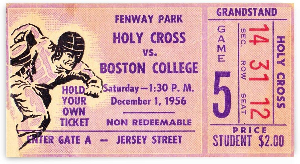 1956_College_Football_Holy Cross vs. Boston College_Fenway Park_Boston_Row One Brand Ticket Stub by Row One Brand