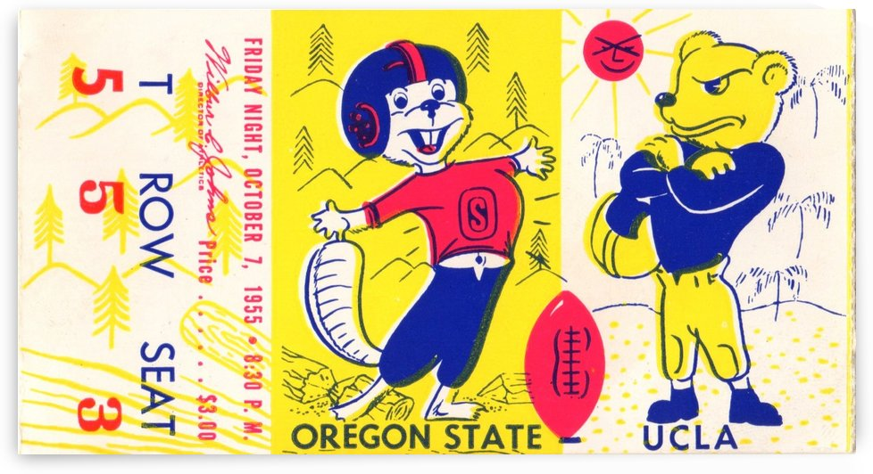 1955_College_Football_Oregon State vs. UCLA_Los Angeles Coliseum_Row One Brand by Row One Brand