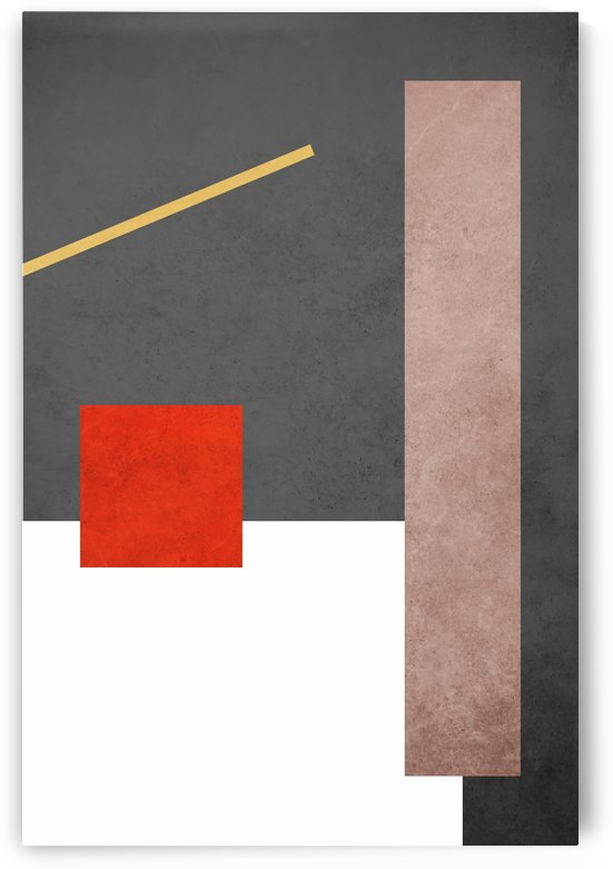 Textured Shapes 03 - Abstract Geometric Art Print by Adriano Oliveira