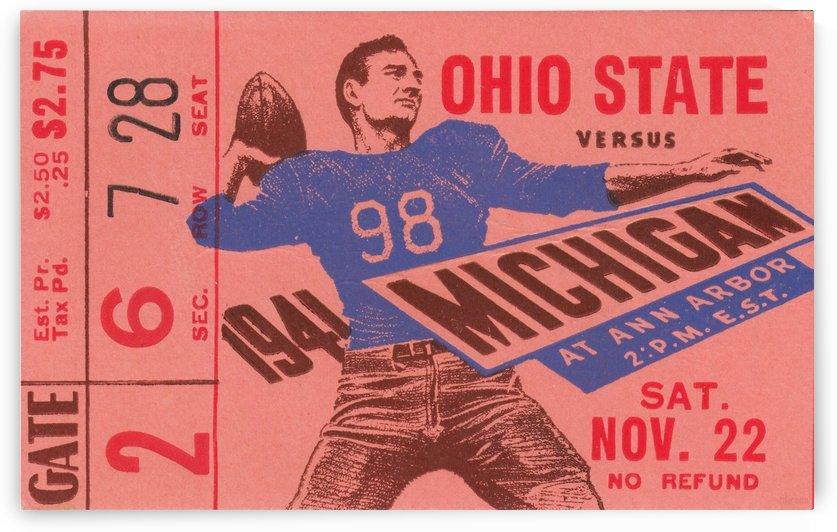 1941_College_Football_Ohio State vs. Michigan_Michigan Stadium_Row One Brand Ticket Stub Art (1) by Row One Brand