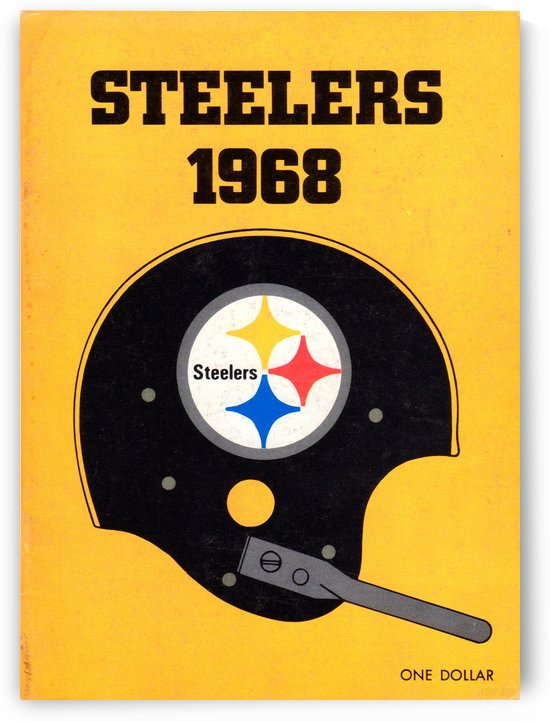 1968_National Football League_Pittsburgh Steelers_Media Guide_Row One Brand Vintage Media Guide Art by Row One Brand
