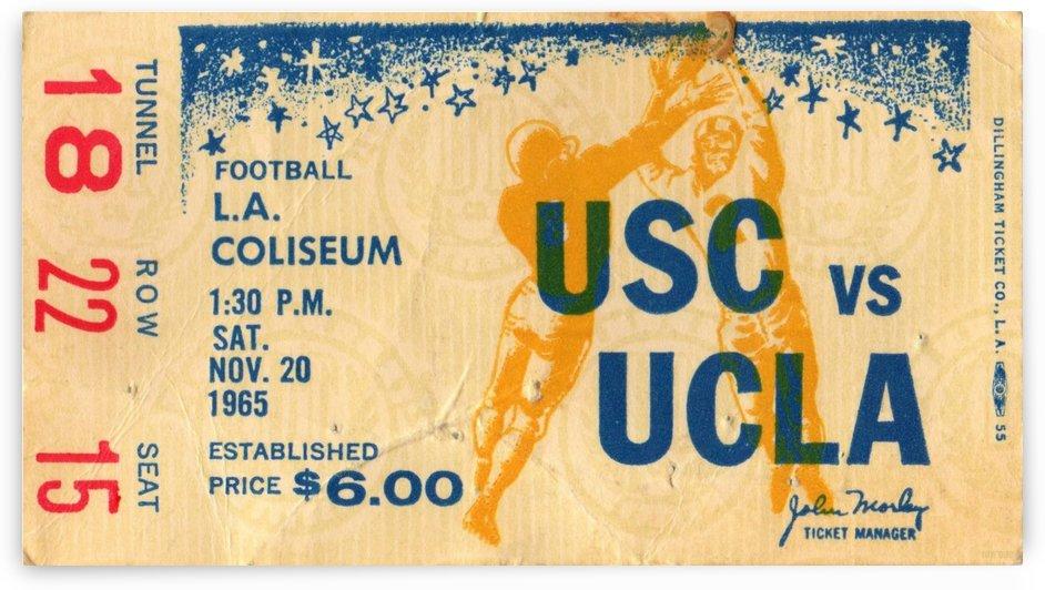 1965 USC vs. UCLA by Row One Brand