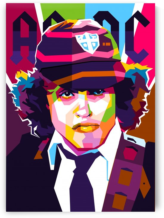 Angus Young by wpaprint