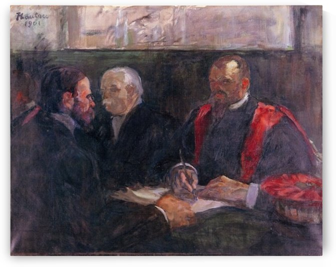 Examination on the academy of medicin by Toulouse-Lautrec by Toulouse-Lautrec