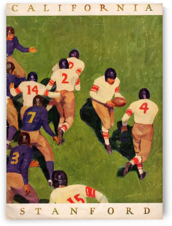 1927_College_Football_California vs. Stanford_Program_Stanford Stadium_Vintage Sports Art by Row One Brand