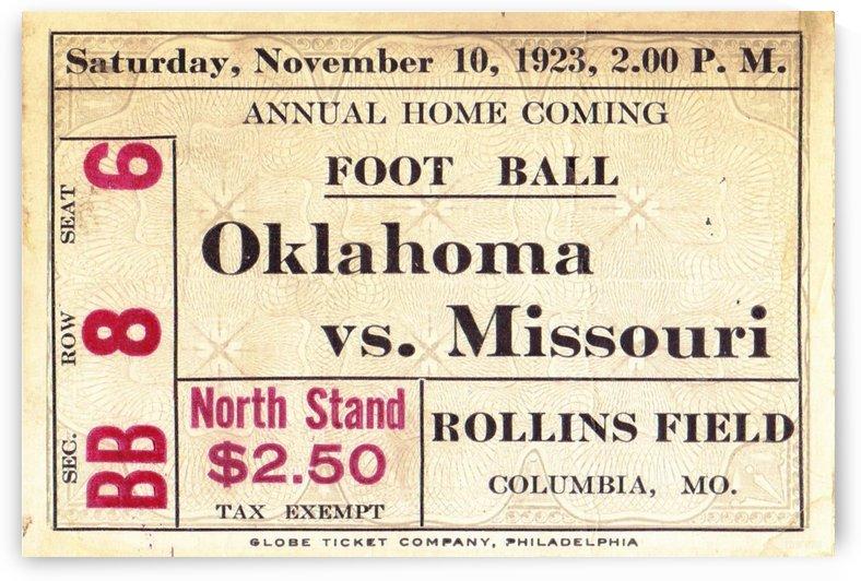 1923 Oklahoma vs. Missouri by Row One Brand