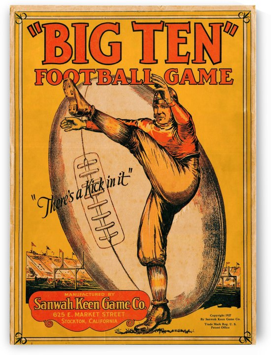 1927_College_Football_Big Ten_Football Game_Sanwah Keen Game Company by Row One Brand