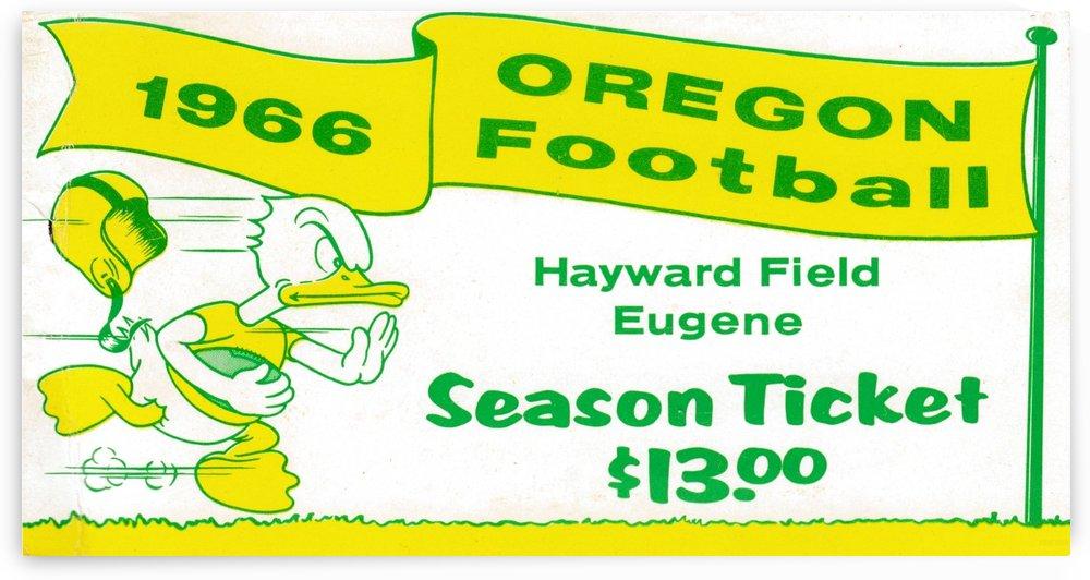 1966 Oregon Duck Season Ticket by Row One Brand