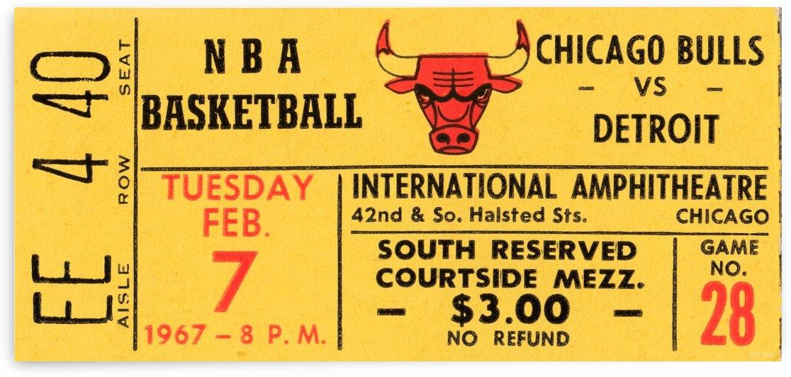 1967_National Basketball Association_Chicago Bulls vs. Detroit Pistons_International Amphitheatre_RO by Row One Brand
