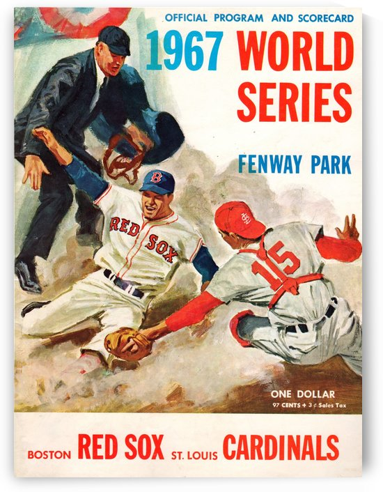 1967 World Series Program Cover Art Fenway Park by Row One Brand