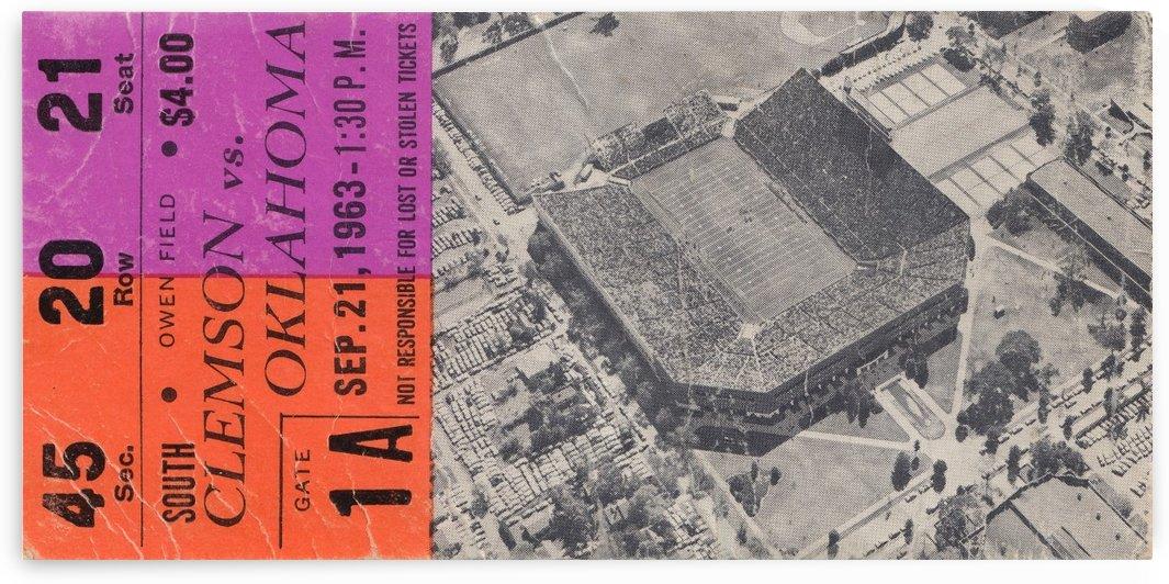 1963 Clemson  vs. Oklahoma by Row One Brand