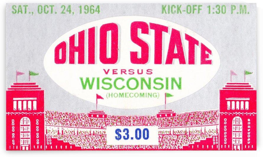 1964_College_Football_Wisconsin vs. Ohio State_Ohio Stadium_OSU Buckeyes Ticket Collection by Row One Brand