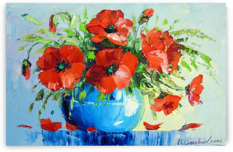 Bouquet of poppies by Olha Darchuk