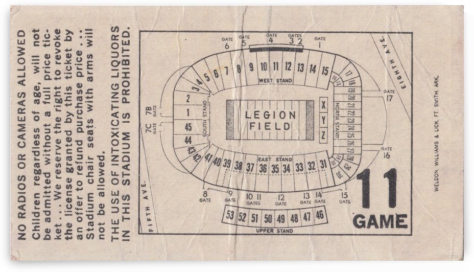 1981_College_Football_Alabama_Legion Field_Map_ Vintage Stadium Map Art by Row One Brand