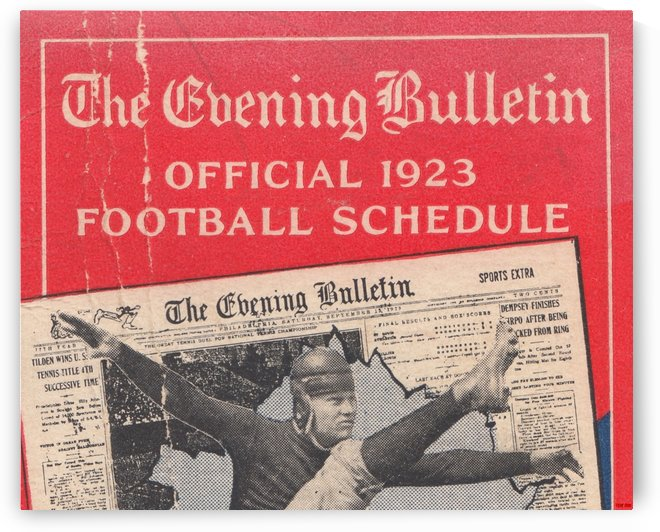 Philadelphia Evening Bulletin Old Newspaper Sports Section Art by Row One Brand