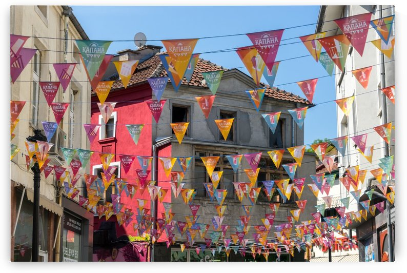 Kapana Plovdiv Pennants - Vibrant Originality in Pink and Yellow by GeorgiaM