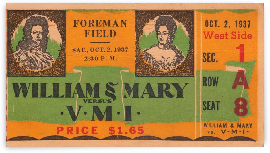 1937_College_Football_William & Mary vs. VMI_Historic Foreman Field_Norfolk VA_Historic Stadium by Row One Brand