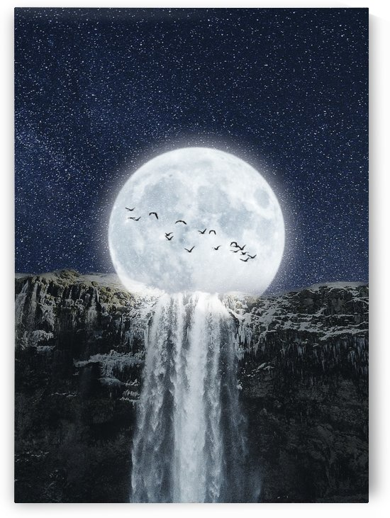Moon Waterfall Fantasy by Artistic Paradigms