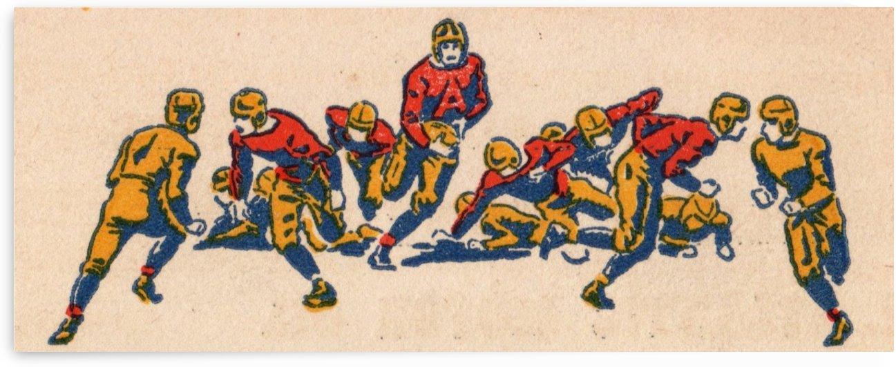 1938 Vintage Football Scene by Row One Brand