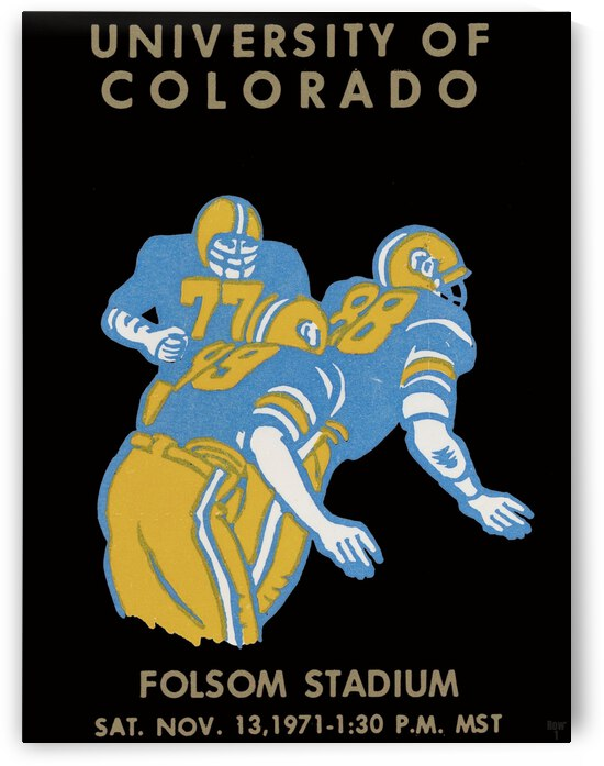 University of Colorado Football Ticket Stub Art Reproduction by Row One Brand