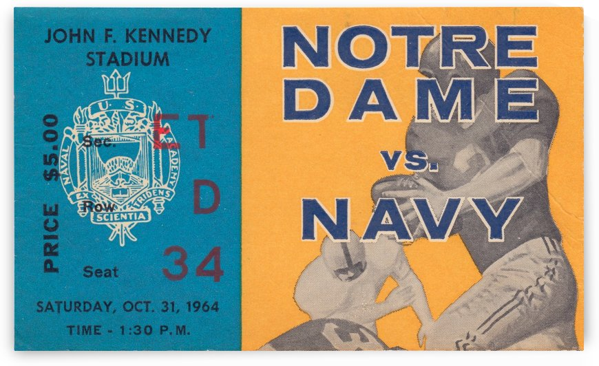 1964 Notre Dame vs. Navy by Row One Brand