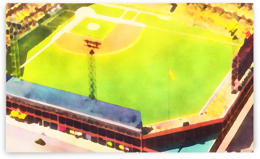 Baseball Ballpark Colorful Art Print by Row One Brand