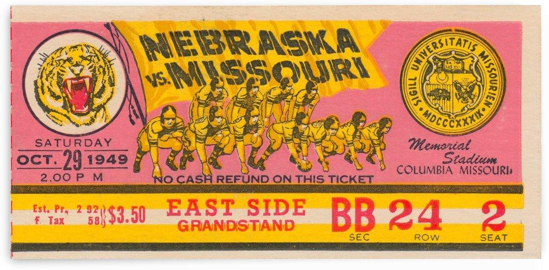 1949 Missouri vs. Nebraska by Row One Brand