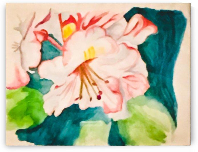 Flower Garden in Pink by GaleriaGrupoArte