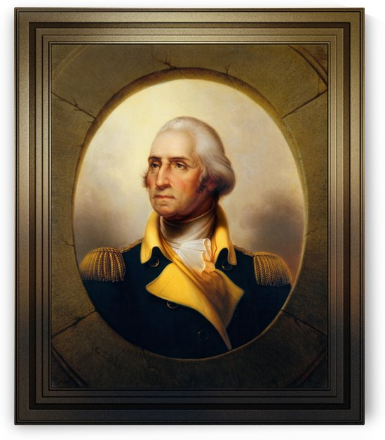 George Washington by Rembrandt Peale Old Masters Reproduction by xzendor7