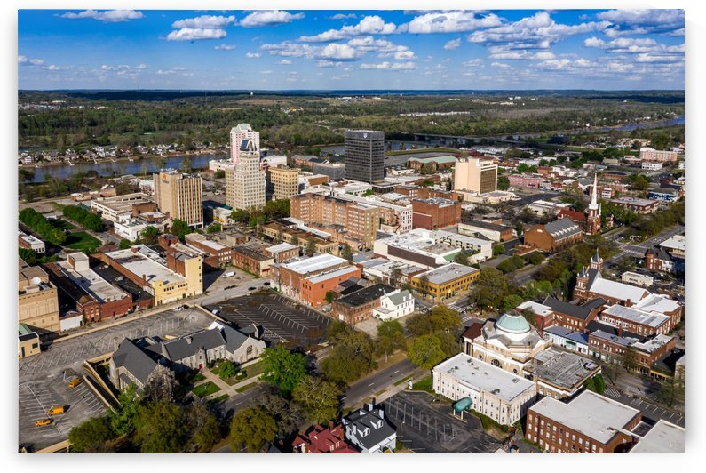 Downtown Augusta Aerial View 0421 by The Photourist - Sanjeev Singhal