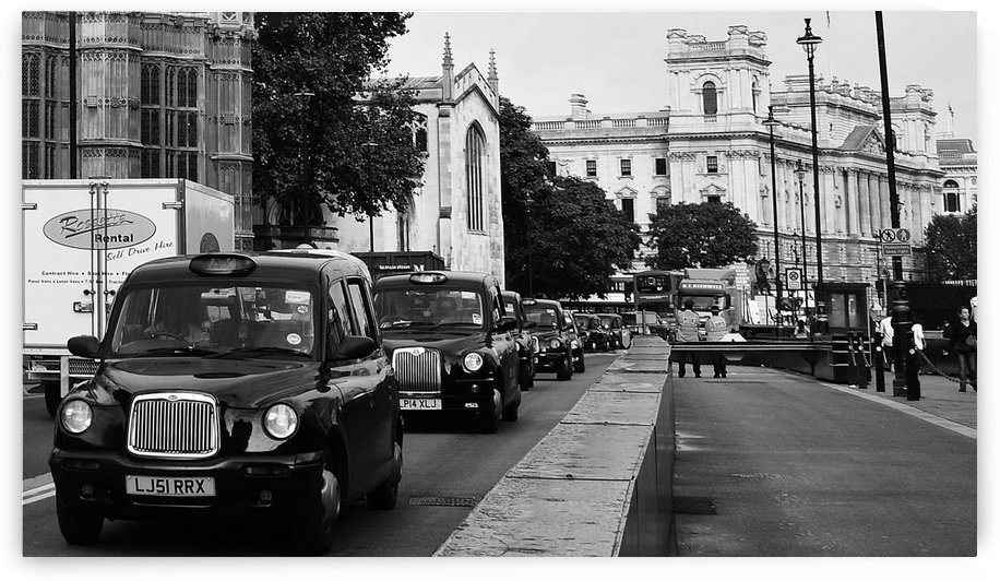 Black Taxis of London by JTPhoto