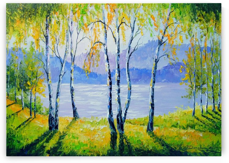 Birch trees by the river  by Olha Darchuk