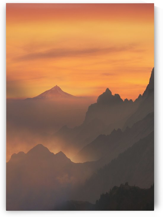 Mountains Sunset Scenery by Artistic Paradigms