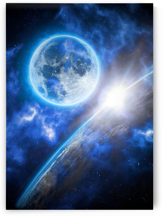 Moon Earth Edge Line by Artistic Paradigms