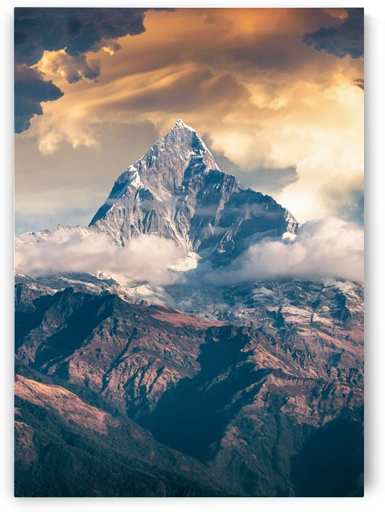 Fantasy Sunset Rock Peaks by Artistic Paradigms