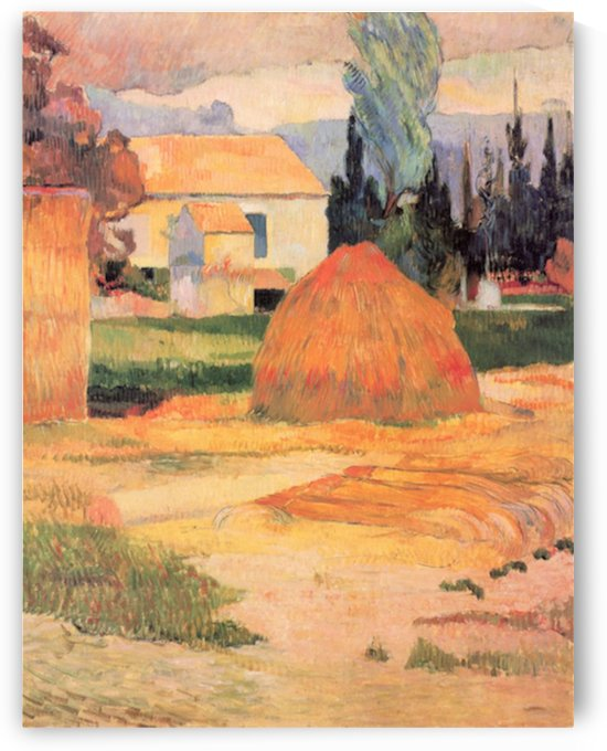 Farmhouses in Arles by Gauguin by Gauguin