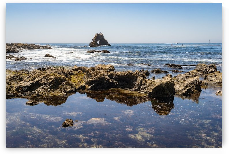 Tidal Pools and Newport Rock Arch at Little Corona Del Mar Beach in Orange County California by GeorgiaM