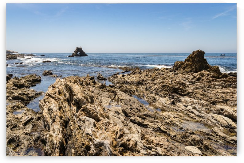Rough Coast at Little Corona Del Mar Beach in Orange County California by GeorgiaM