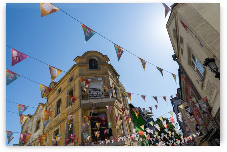 Kapana Plovdiv Pennants - Vibrant Originality in Blue Green Red and Yellow by GeorgiaM