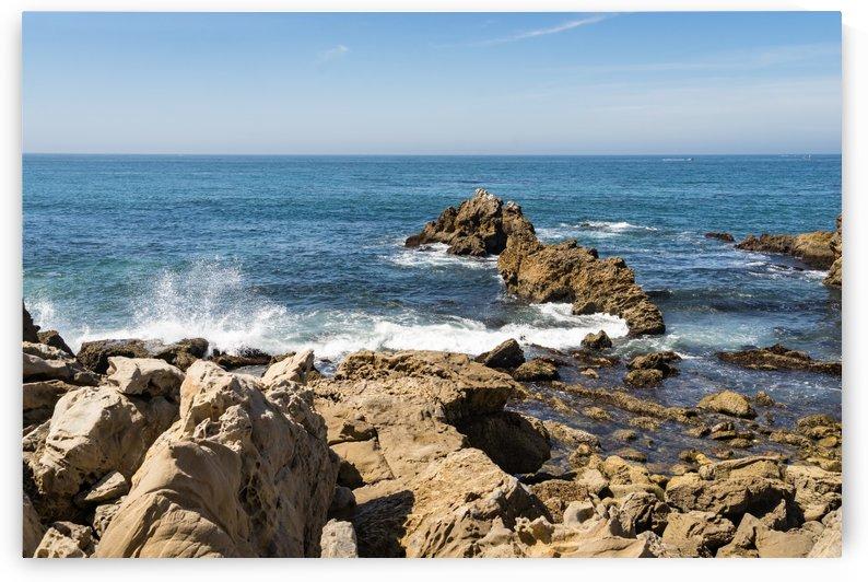 Rough Coast Splash at Little Corona Del Mar Beach in Orange County California by GeorgiaM
