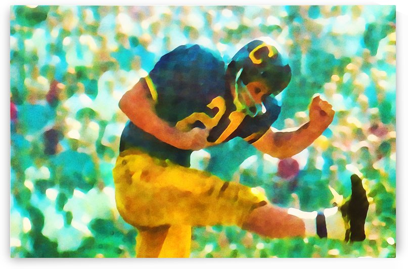 College Football Punter Art Print Cal Bears Wall Art by Row One Brand