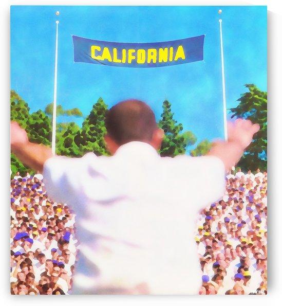 Football Watercolor Art_Vintage College Football Art Prints_Best Football Stadium Art_California Art by Row One Brand