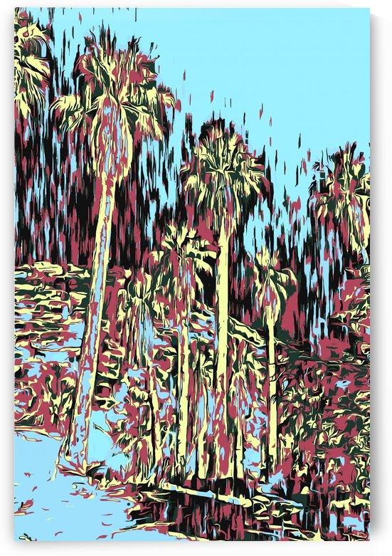 Palms Impresso Two by JarmilaKostlivaStudio