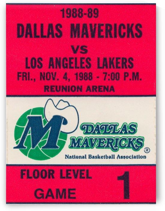 Dallas Mavericks Basketball Ticket Stub Wall Art Print_Sports Ticket Reproduction by Row One Brand