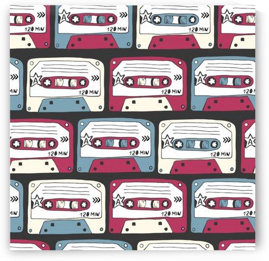 music symbols rock music seamless pattern by Shamudy
