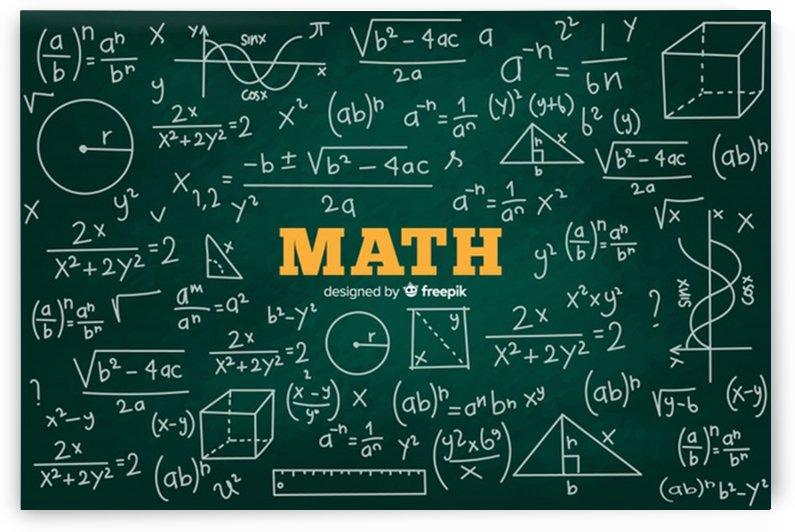 realistic math chalkboard background by Shamudy