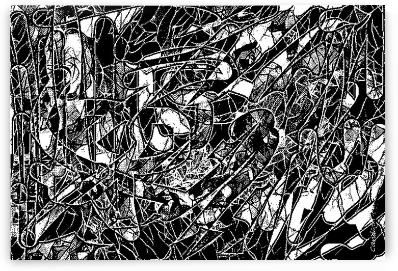 Black & White Art Threshold Texture by Candid Art