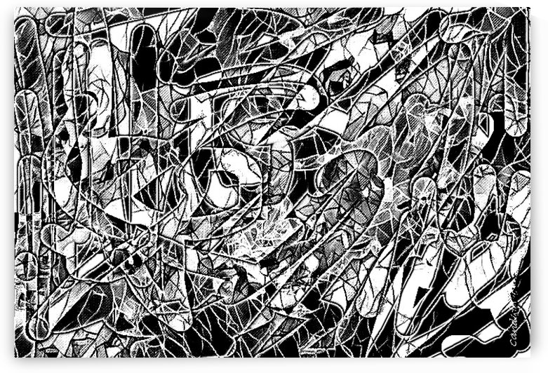 Black & White Art Threshold Light Texture by Candid Art
