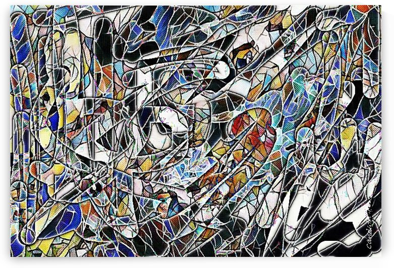 Color Art Abstract Pattern by Candid Art
